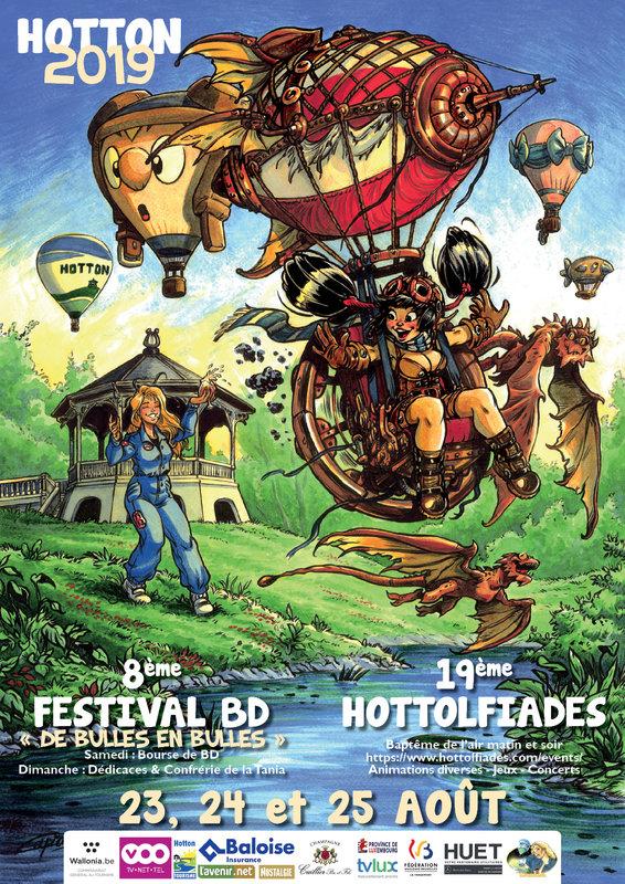 """Weekend august 22-23 - Comics books festival """"de bulles en bulles"""""""